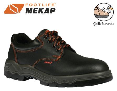 Mekap İş Ayakkabısı 022 Çelik Burunlu Siyah içerik