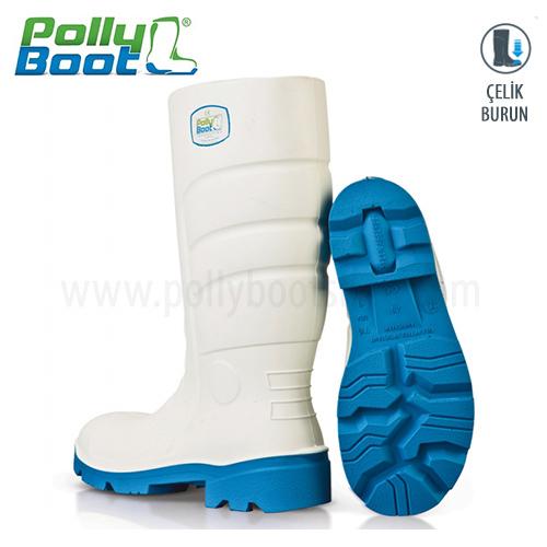 Polly Boot İş Çizmesi Glaxy 102 Beyaz Çelik Burunlu içerik