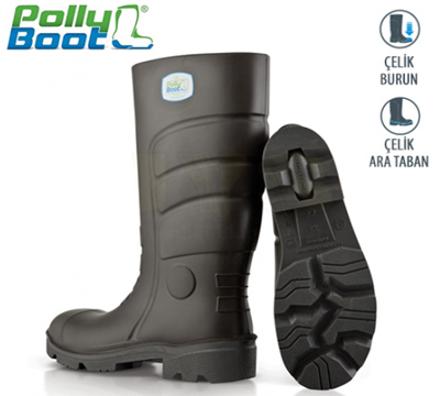 Polly Boot İş Çizmesi Glaxy 203 Siyah Çelik Burun Çelik Ara Taban içerik