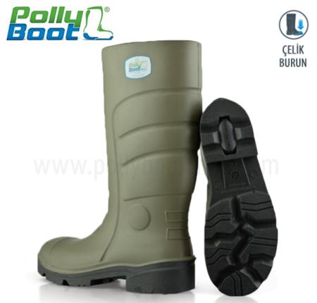 Polly Boot İş Çizmesi Glaxy 402 AHaki Çelik Burunlu içerik